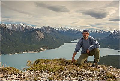 Darwin above Lake Abraham, Alberta